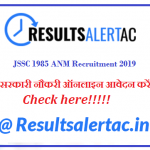 (Government Jobs) JSSC 1985 ANM Recruitment 2019 Apply Online Eligibility Exam Date Fee