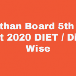 Rajasthan 5th Class Result 2020, rajresults.nic.in Fifth Result Name Wise