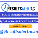 PCARD Bank Recruitment 2020    Apply Online For 48 PCARD Bank Vacancy