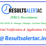 @ www.iprcl.in IPRCL Recruitment 2020, Apply for 37 GET & Other Vacancies