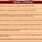 @psc.cg.gov.in CGPSC Model Answer Key 2021 Released for State Service (Prelims) Exam @psc.cg.gov.in, Raise Objections till 22 February 2021