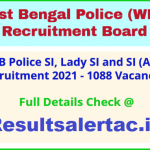 @ wbpolice.gov.in WB Police SI Recruitment 2021 (1088 Sub Inspector Posts) Online Application