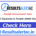 Punjab Government Jobs 2021 | Latest Vacancies in Punjab 20000 Vacancies under Punjab Government