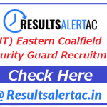 (OUT) Eastern Coalfield Security Guard Recruitment 2021 | (1086 Vacancy) | Application Form 2021