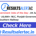 Top 5 Government Jobs of the Day–05 June 2021 | Apply for 10,000+ NLC, Punjab Government, NHM Bhopal, Southern Railway and NHM MP